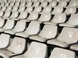 dusty empty stadium seats