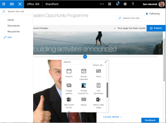 The range of content formats that can be added in SharePoint is growing steadily.