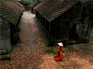woman walking in Vietnam