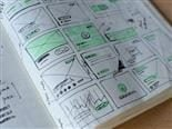 workbook with some user experience ideas sketched out