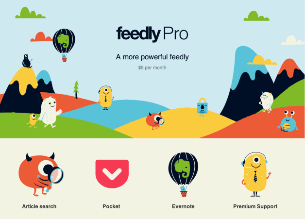 Feedly Pro Released, Adds Search + Evernote Integration