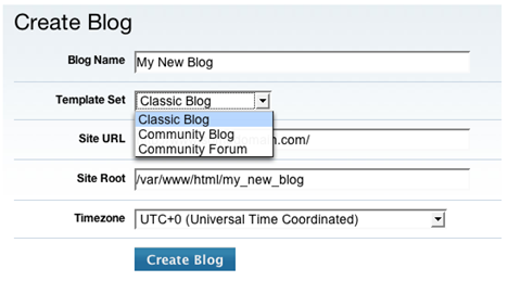 Community Blog Creation