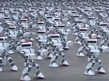 robot army dance from Guinness World Records