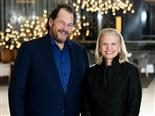 Salesforce CEO Marc Benioff and IBM CEO Ginni Rommety