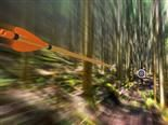 Arrow traveling through air at high speed to archery target with motion blur - on target content marketing concept