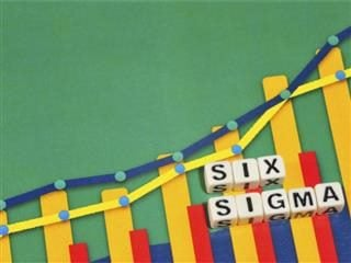 Business Term with Climbing Chart / Graph - the word Six Sigma