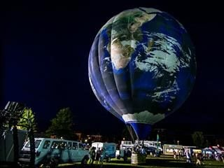 planet earth hot air balloon