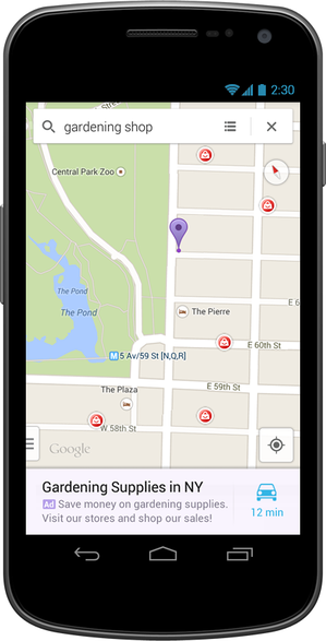 Google Maps Set to Display Ads