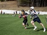 lacrosse team in action