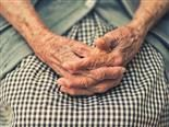 close up of an older woman's hands