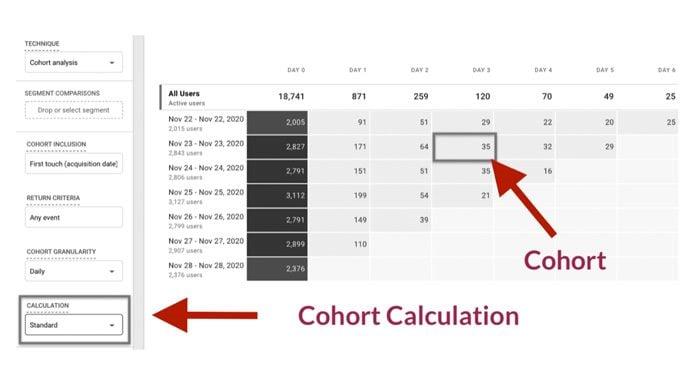 google cohort analysis