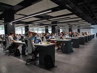 open office filled with employees