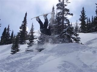front flip on snowboard