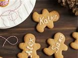 gingerbread cookies with names on them.