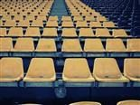 a lot of empty seats in a stadium