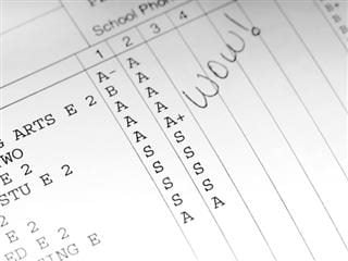 School report card with all As and A+ - marketing personalization strategy