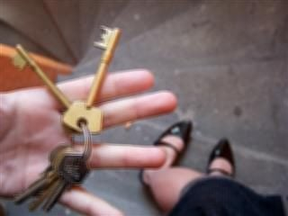 skeleton keys in hand