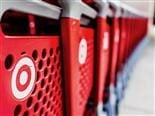 close up of Target shopping carts