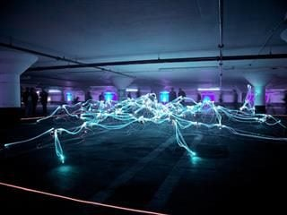 artist rendering of nervous system in lights