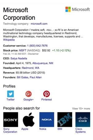screenshot of microsoft product listing page on google