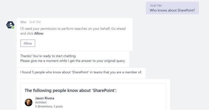 who bot sharepoint