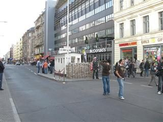 Site of Checkpoint Charlie in Germany.
