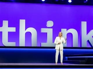 Ginni Rometty delivering the keynote at IBM's Think 2019