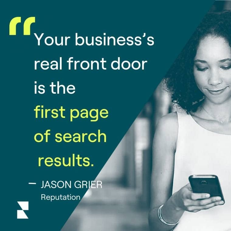 """""""Your business's real front door is the front page of search results."""""""