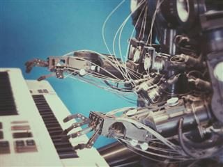 piano playing robot