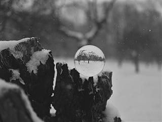 crystal ball winter wonderland