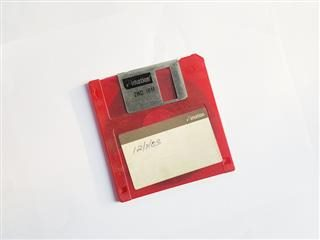 isolated  floppy disc against a white background