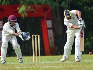 at bat in a cricket match