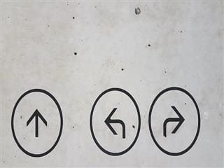 arrows pointing in all directions