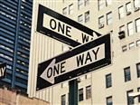 two one way signs