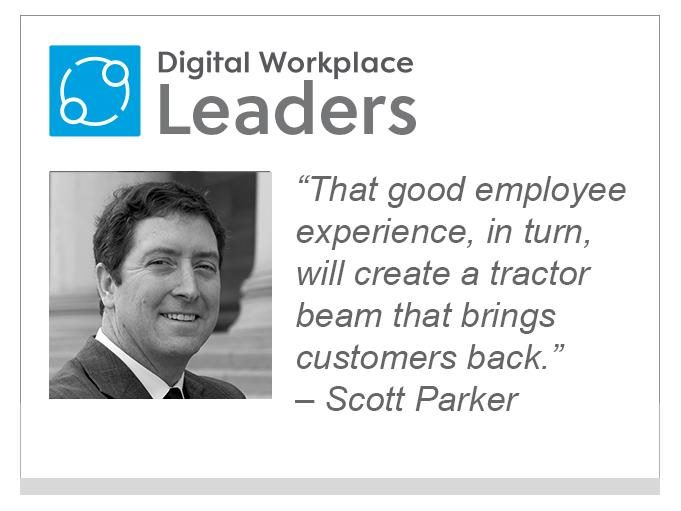 "Scott Parker, Sinequa: ""That good employee experience, in turn, will create a tractor beam that brings customers back."""