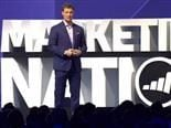 Marketo CEO Steve Lucas on stage.