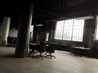 alone in an office