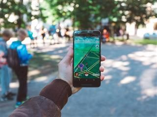 person playing Pokemon Go in Finland