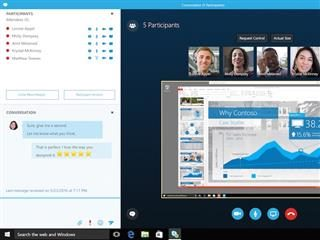 group video and text chat in Skype for Business