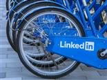 LinkedIn branded bicycle