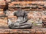 Headless Ancient Buddha statue at Wat Mahathat in Ayutthaya, Thailand - Headless CMS Concept
