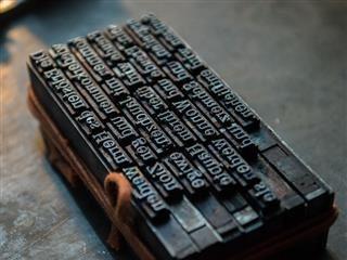 typeset block