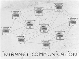PCs connected via an intranet