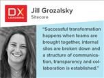 Jill Grozalsky of Sitecore: Successful transformation happens when teams are brought together, internal silos are broken down and a structure of communication, transparency and collaboration is established.""