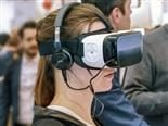 woman with virtual reality headset on