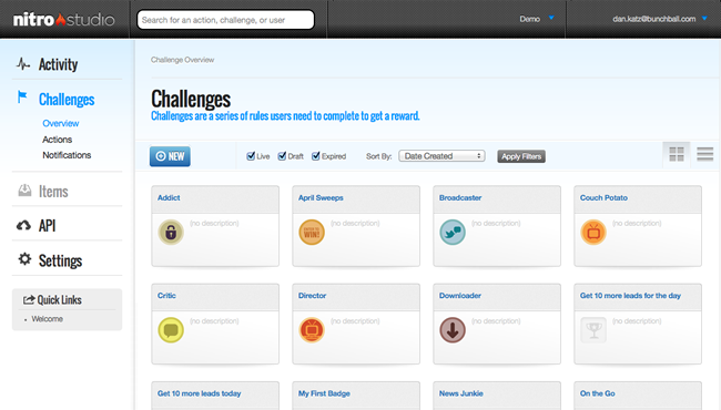 nitro studio challenges screenshot