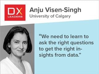 "University of Calgary's Anju Visen-Singh, ""We need to learn to ask the right questions to get the right insights from the data"""
