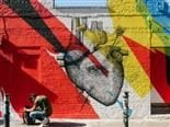 street art - anatomically correct heart
