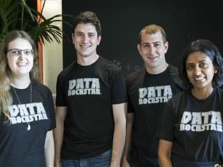 ClearGraph team members, from left to right: Naomi Bancroft, Ryan Atallah, Andrew Vigneault and Vidya Setlur.