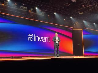 AWS CEO Andy Jassy delivers his signature marathon keyonte at re:Ignite 2019